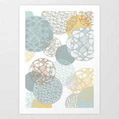 Floating Circles Art Print by patternjots - $18.00