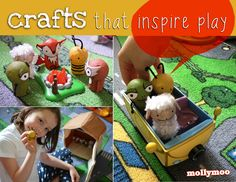 Wine Cork Crafts: Pocket Pals #2 - MollyMoo - crafts for kids and their parents