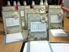 Day 3:  Easel Card Calendars injoystampin