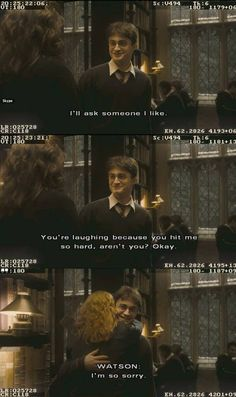 """28 Times The """"Harry Potter"""" Cast Were Behind-The-Scenes Best Friends Harry Potter Puns, Harry Potter Universal, Harry Potter Characters, Harry Potter Things, Harmony Harry Potter, Drarry, Dramione, Hogwarts, Harry And Hermione"""