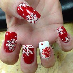 snowflakes christmas by nails_bysarah #nail #nails #nailart by ladylynne213
