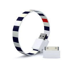 USB Cable Loop Navy Bold, now featured on Fab.