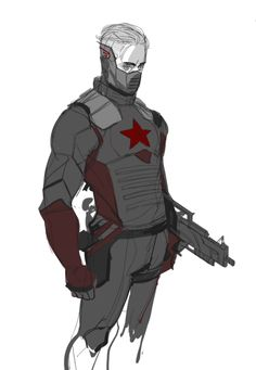 Steve Rogers as The Winter Soldier Read a lot of Beardsley's dark AU of Captain America where Steve becomes the Winter Soldier instead of Bucky and it's REALLY GOOD. So I've been meaning to draw this for a while, but haven't had time. Gonna do a better version of it soon. Bucky as Captain America coming soon.