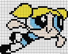 Image from http://www.autostraddle.com/wp-content/uploads/2013/09/power-puff-girls-hama-perler-beads-pattern.jpg.