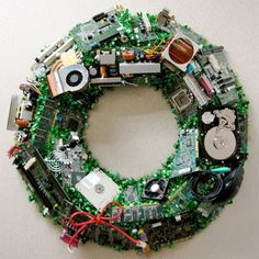 . . . . . How to Recycle: Christmas Wreath