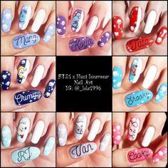 Bts nail art x hunt innerwear) – Nails Club Cute Acrylic Nails, Cute Nail Art, Acrylic Nail Designs, Cute Nails, Pretty Nails, Nail Art Designs, Nails Design, Korean Nail Art, Korean Nails