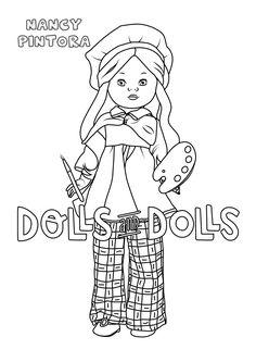 Nancy Pintora para #colorear #dibujo GRATIS #nancy #nancypintora #muñecas #muñeca #dolls #doll