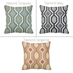 Image result for Dwell Studio ® DIAMOND VISTA / TURQUOISE cushion Throw Pillow Cases, Throw Pillows, Turquoise Cushions, Orange And Turquoise, Furniture Upholstery, Texture, Contemporary, Navy, Studio