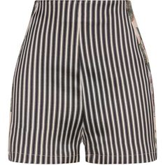 La Perla Maps in Bloom Stripe Print Silk High-Waist Shorts ($396) ❤ liked on Polyvore featuring shorts, striped shorts, high-waisted shorts, high-rise shorts, high waisted shorts and stripe shorts