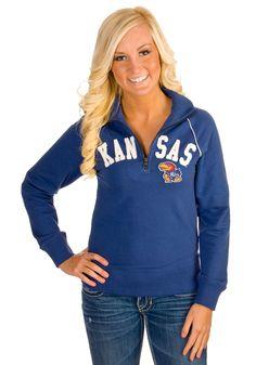 Kansas Jayhawks Jr Royal Blitz 1/4-Zip Pullover I WANT....except I would like Duke :)