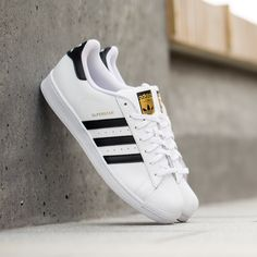 adidas superstar black white gold nz