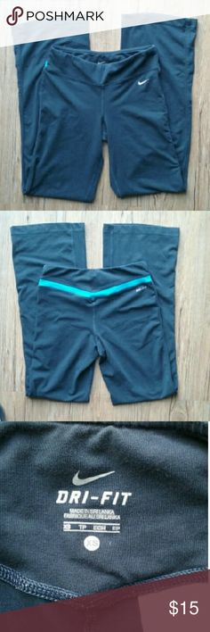 Nike Dri Fit Active Yoga Pants Women's Nike Dri Fit Active Yoga Pants. Size XS. Gray in color. In excellent pre owned condition! Nike Pants Track Pants & Joggers