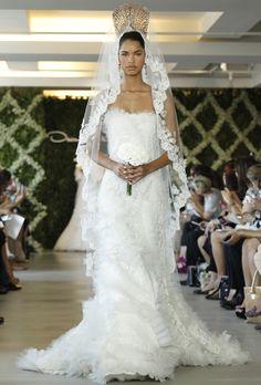 Brides: Oscar De La Renta Wedding Dresses Spring 2013 | Bridal Runway Shows | Wedding Dresses And Style | Brides.com | Wedding Dresses Style