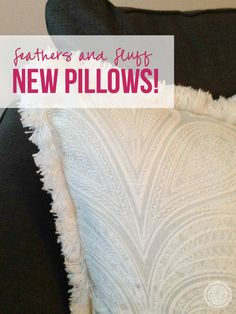 I looove these fluffy pillows! Of course I love all pillows... they're the perfect inexpensive addition to just about any space! I wonder where she got these? Click through and read more or re-pin for later! @Happily Ever After, Etc.