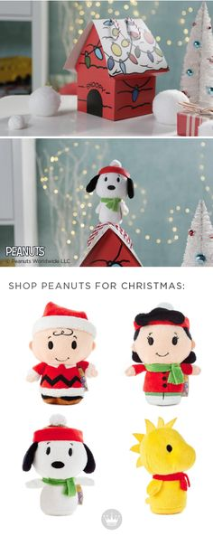 The gang's all here! These Peanuts® itty bittys® from Hallmark make the perfect adorable stocking stuffers or gift ideas for your family this holiday season. You'll find Charlie Brown, Lucy, Woodstock, and Snoopy—and what's wonderful is that these presents give back—Hallmark will donate $1 to Toys for Tots for each Holiday Peanuts® itty bittys® you buy. What could be better than Christmas decorations that capture the giving spirit?!