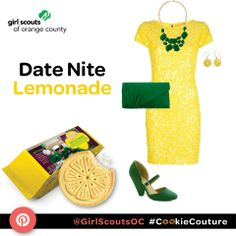 "A ""Date Nite Lemonade"" outfit inspired by the Girl Scout Lemonades Cookie! #CookieCouture"