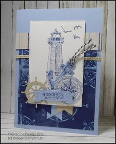 Carolyn King: Fundraiser - Junior Diabetes Research Foundation Masculine Birthday Cards, Masculine Cards, Nautical Cards, Beach Cards, Magnolia Stamps, Stamping Up Cards, Paper Cards, Men's Cards, Homemade Cards
