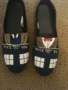 Doctor Who Shoes on Etsy, $35.00