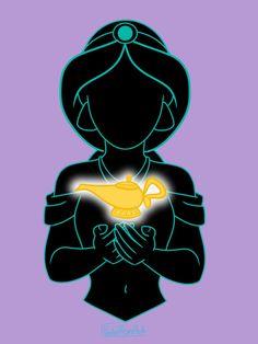 I loved drawing the Will-O-The-Wisp btw Snow White Silhouette Cinderella Silhouette Sleeping Beauty Silhouette Ariel Silhouette Belle Silhouette Jasmine. Disney Aladdin, Film Disney, Disney Princess Cinderella, Arte Disney, Disney Fan Art, Punk Disney, Disney Movies, Aladdin Art, Princess Aurora