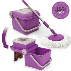 SPIN TASTIC MOP AND COLLAPSIBLE BUCKET WITHOUT PEDAL