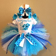 3 Pc Blues Clues Dog Birthday Number Tutu by TeacupsandMudpies1