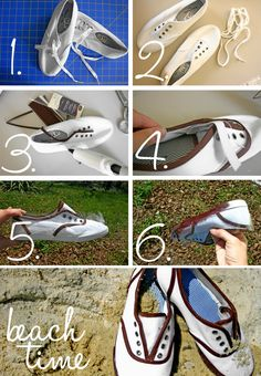 DIY laceless sneakers?  Fun fact: my junior year of college, I went a whole year without wearing lace-up shoes.