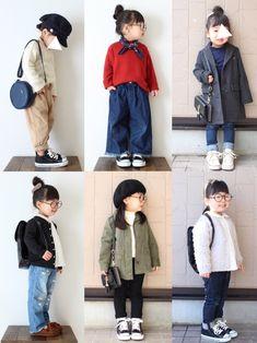 パンツコーデまとめ☺︎ Toddler Boy Fashion, Toddler Girl Style, Baby Girl Fashion, Kids Fashion, Baby Outfits, Cute Little Girls Outfits, Toddler Outfits, Baby Fashionista, Kids Suits