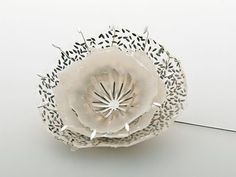 Sabrina Meyns makes the most delicate pieces by combining paper with seeds.