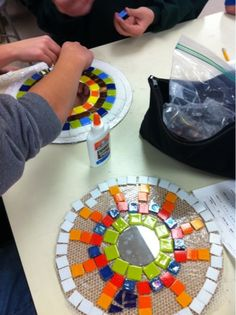 Art at Becker Middle School: Mosaic mandalas and paper ones too!