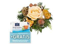 Lidl: Weihnachts-Blumenstrauß mit Präsent ab 14,99 Euro frei Haus https://www.discountfan.de/artikel/technik_und_haushalt/lidl-weihnachts-blumenstrauss-mit-praesent-ab-14-99-euro-frei-haus.php Weihnachtliche Blumensträuße sind ab sofort bei Lidl inklusive einem Gratis-Präsent (Tee, Pralinen, Lebkuchen und andere) zu Schnäppchenpreisen ab 14,99 Euro frei Haus zu haben. Allein für weniger als 20 Euro sind derzeit sechs Modelle mit Präsent zu haben. Lidl: Weihnachts-Bl