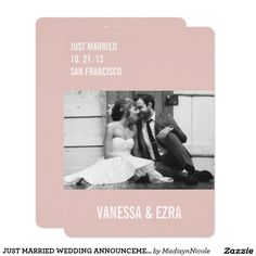 JUST MARRIED WEDDING ANNOUNCEMENT - FLAT
