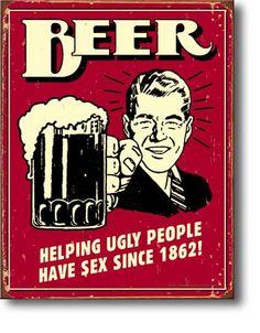 Beer - Cartel de chapa  32x41 cm.