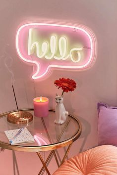 Urban Outfitters Hello Neon Sign