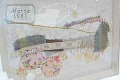 Marna Lunt:  Pale Rose Moors Original Textile Artwork | Made By Hand Online