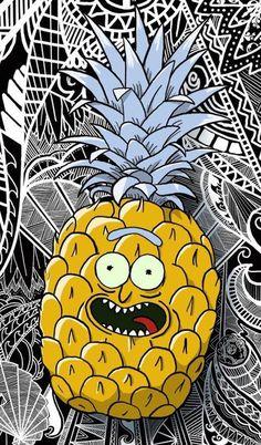 Rick and Morty x Pineapple Rick! - Rick and Morty x Pineapple Rick! Cartoon Wallpaper, Iphone Wallpaper, Rick And Morty Drawing, Rick And Morty Stickers, Rick I Morty, Rick And Morty Poster, Ricky And Morty, Graffiti, Trippy Drawings
