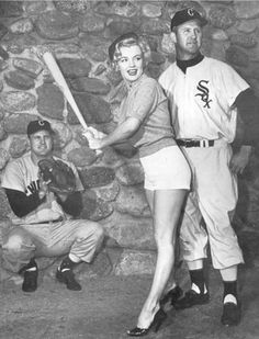 Marilyn Practices with the White Sox, spring training, Brookside Park, Pasadena, CA