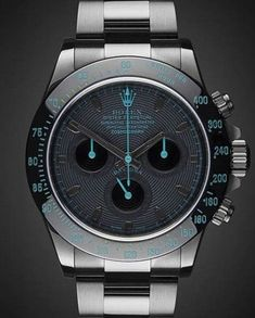 Uniquely customized DLC/PVD black Rolex watches from Titan Black, Rolex & luxury watch customization specialist in UK. Rolex Daytona, Cosmograph Daytona, Rolex Watches For Men, Luxury Watches For Men, Wrist Watches, Men's Watches, Stylish Watches, Cool Watches, Philip Watch
