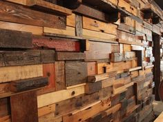 Wood Block Wall