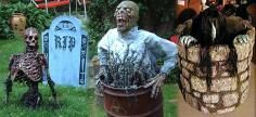 DIY Crafty Outdoor Halloween Decorations
