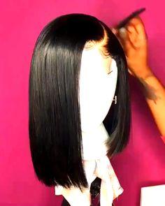 New Style Tilted Shearing Straight Bob Layered Asymmetrical Virgin Human Hair Lace Front Wigs um mittlere Längen zu versuchen New Style Tilted Shearing Straight Bob Layered Asymmetrical Virgin Human Hair Lace Front Wigs Baddie Hairstyles, Weave Hairstyles, Straight Hairstyles, Fancy Hairstyles, Short Asymmetrical Hairstyles, Teen Hairstyles, Casual Hairstyles, Medium Hairstyles, Latest Hairstyles