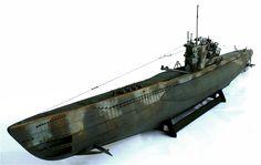 Revell's 1/72 scale Typ VII C/41 U Boot submarine.