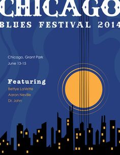 Chicago Blues Poster on