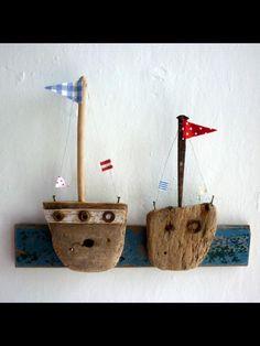 Driftwood boats - boys room - SWOON!!
