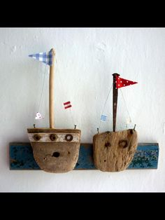 Driftwood boats - each child decorates their own boat and we do one long shadowbox