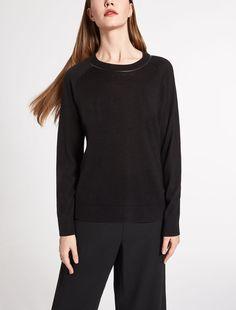 Wool and silk knit shirt