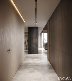 Apartment with brutal finishing materials in harmonic combination with trendy colours Office Interior Design, Office Interiors, Interior Design Living Room, Living Room Designs, Ceiling Light Design, Lobby Design, Home Room Design, Apartment Design, Interior Lighting