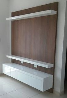 TV Stand Unit Cabinet Ideas Latest 2020 - House Designs Wall Tv Stand, Living Room Tv Unit Designs, Tv Stand Unit, Wall Unit Designs, Wall Panel Design, Living Room Design Decor, Tv Wall Design, Tv Room Design, Wall Tv Unit Design