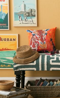 Create a fun travel wish list decor hallway….or celebrate the places you've already been!