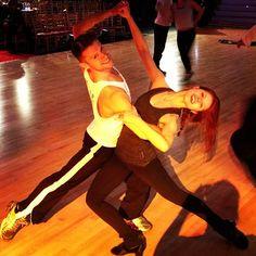 @atrebunskaya & I Overswaying it out! Go team #dwts @dancingabc @dwtsofficial #dance via Henry Byalikov