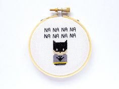 This cute little 3 cross stitch is an ode to Batman Small enough to sit on your desk Conversation piece for your wall Or a thoughtful gift for a